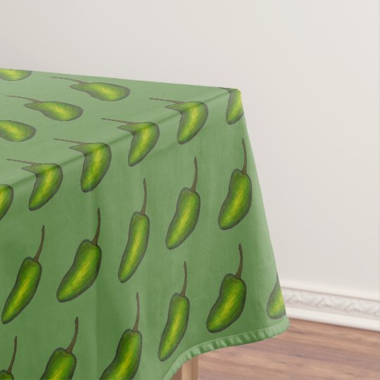Green Jalapeno Hot Spicy Pepper Cooking Food Tablecloth