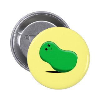 Green Jellybean Button