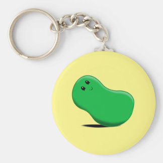 Green Jellybean Keychain
