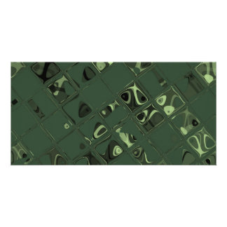 Green Jewel - Tiled Pattern Picture Card