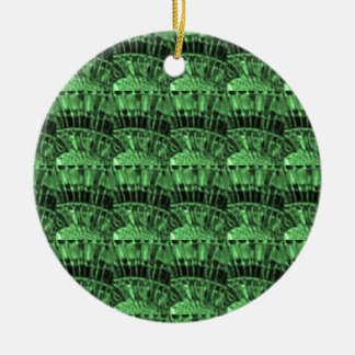 GREEN JEWELS - earthern emerald art   LOWPRICE gif Double-Sided Ceramic Round Christmas Ornament
