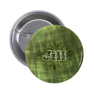 Green Jill Pinback Buttons