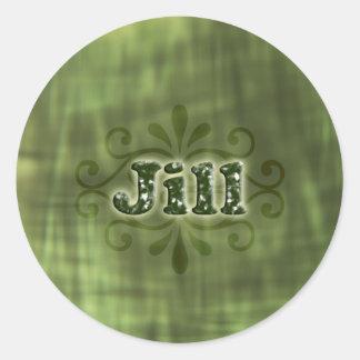 Green Jill Round Sticker