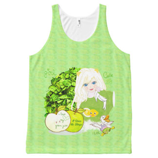 Green Juice Lover All-Over Print Tank Top