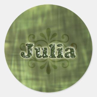 Green Julia Round Sticker