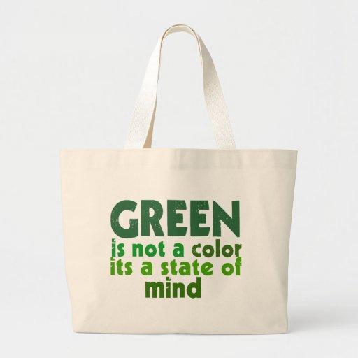 Green Jumbo Tote Bag