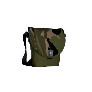 Green Jungle Camo Courier Bag
