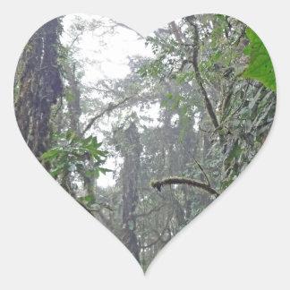 green jungle in costa rica heart sticker