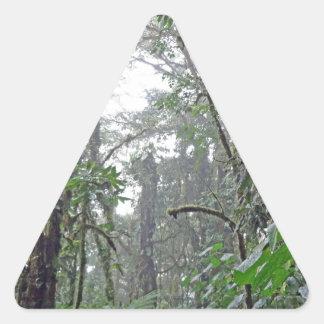 green jungle in costa rica triangle sticker