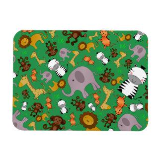 Green jungle safari animals flexible magnets