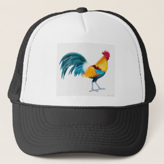 Green Junglefowl Rooster Trucker Hat