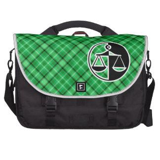 Green Justice Scales Laptop Messenger Bag