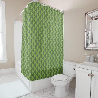Green Kale Greenery Arrow Pattern Geometric Shower Curtain