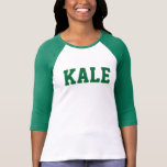 Green KALE University Bella 3/4 Sleeve Raglan Tee