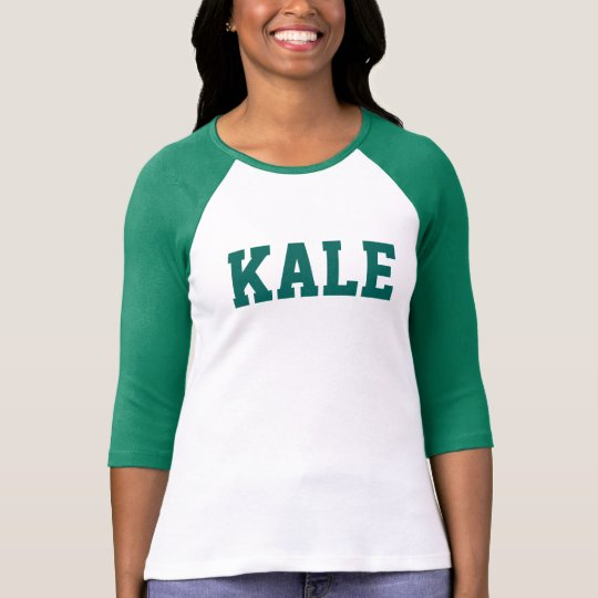 Green KALE University Bella 3/4i Sleeve Raglan Tee