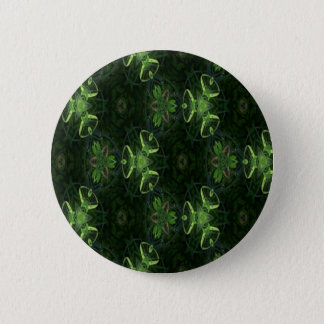 Green Kaleidoscope 1 6 Cm Round Badge