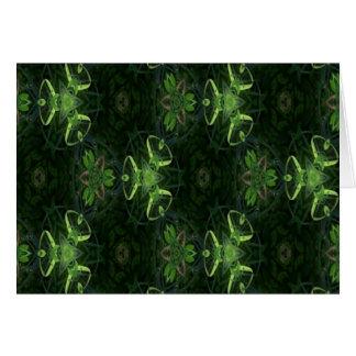 Green Kaleidoscope 1 Greeting Card