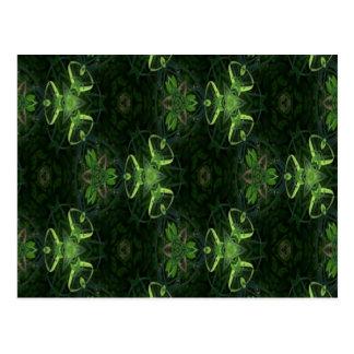 Green Kaleidoscope 1 Postcard