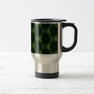 Green Kaleidoscope 1 Travel Mug