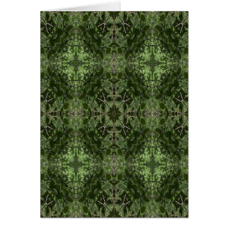 Green Kaleidoscope 3 Greeting Card
