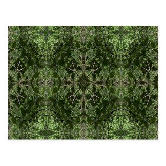 Green Kaleidoscope 3 Postcard