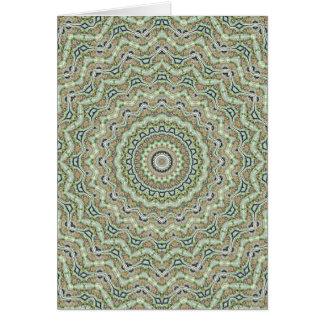 Green Kaleidoscope Card