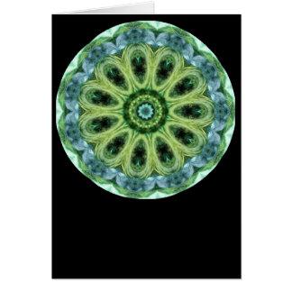 Green Kaleidoscope Cards