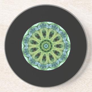 Green Kaleidoscope Coaster