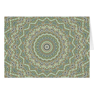 Green Kaleidoscope Greeting Card