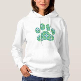 Green Kaleidoscope Infinity Paw Print Design Shirts