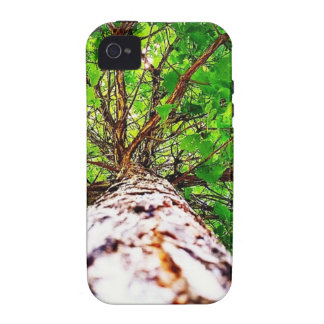 Green kaleidoscope leaves iPhone 4 cases