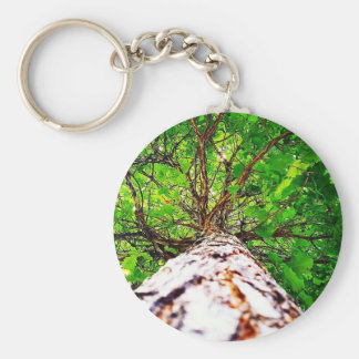 Green kaleidoscope leaves key chains