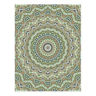 Green Kaleidoscope Post Card