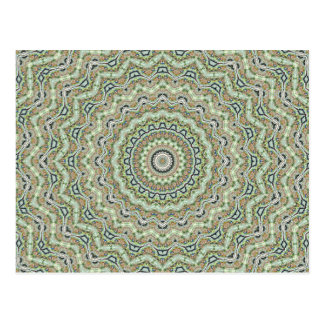 Green Kaleidoscope Post Cards