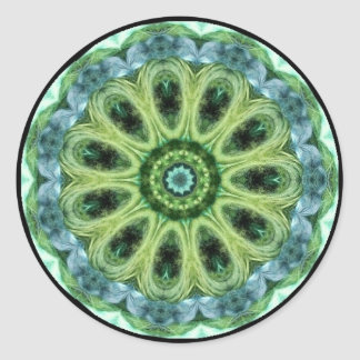 Green Kaleidoscope Round Sticker