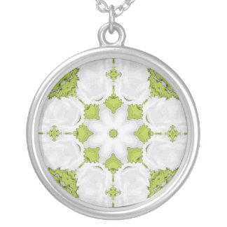 Green Kaleidoscope Star Personalized Necklace