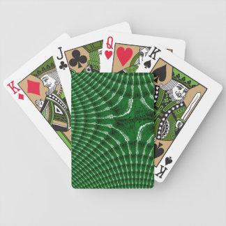 Green Kaleidoscopic Texture Poker Playing Cards