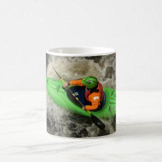 Green Kayak Paddling Coffee Mug