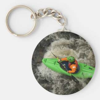 Green Kayak Paddling Key Ring