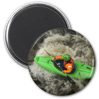 Green Kayak Paddling Magnet