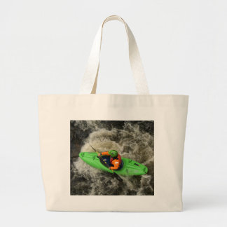 Green Kayak Paddling Tote Bags