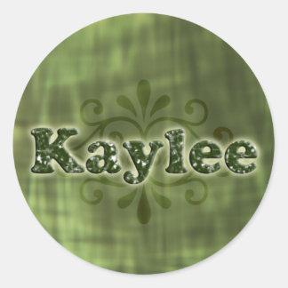 Green Kaylee Round Sticker