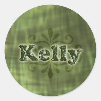 Green Kelly Round Sticker