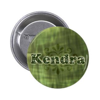 Green Kendra 6 Cm Round Badge