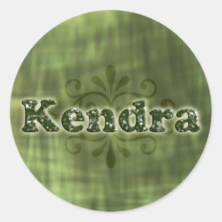 Green Kendra Round Sticker