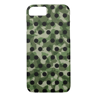 Green Khaki Camo Black Polka Dot iPhone 8/7 Case