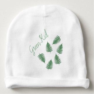 Green Kid Fern Pattern Toddler Beanie Baby Beanie