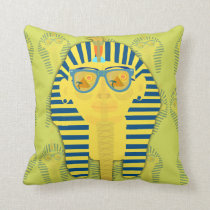 Green King Tut with Sunglasses Cushion