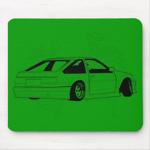 Green KIS Levin AE86 Mouse Pads