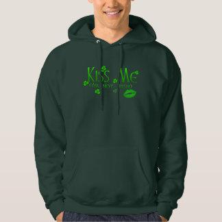 Green Kiss Me Not Irish St Patrick's Day Hoodie